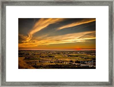 Golden Hour Framed Print by Robert Bales