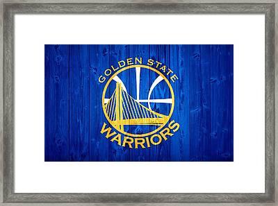 Golden State Warriors Door Framed Print by Dan Sproul