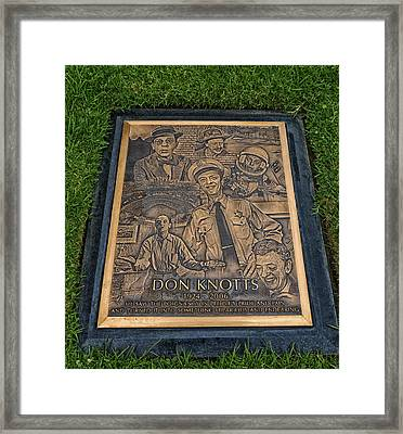 Gravesite Of Don Knotts - Westwood Cemetery Framed Print by Mountain Dreams