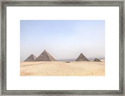 Great Pyramids Of Giza - Egypt Framed Print by Joana Kruse