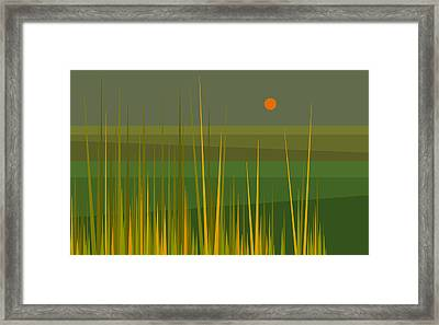 Green Fields Framed Print by Val Arie