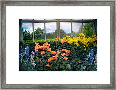 Greenhouse Garden Framed Print by Jessica Jenney