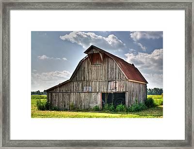 Grey Barn Framed Print by Douglas Barnett