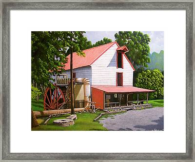 Guilford Mill Framed Print by Larry Hoskins