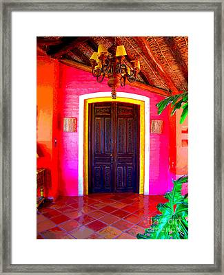 Hacienda 2 By Darian Day Framed Print by Mexicolors Art Photography