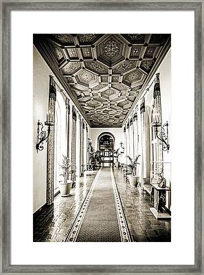 Hallway Of Elegance Framed Print by Scott Pellegrin