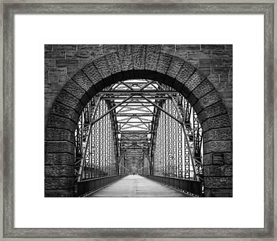 Hamburg - The City Of Bridges Framed Print by Mountain Dreams