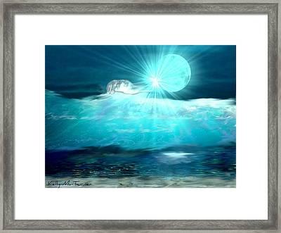 Hand Of God Framed Print by Kelly Turner