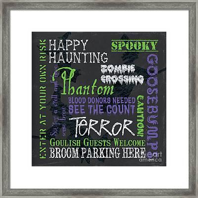 Happy Haunting Framed Print by Debbie DeWitt
