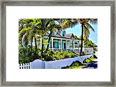 Harbour Island Home Framed Print by Anthony C Chen