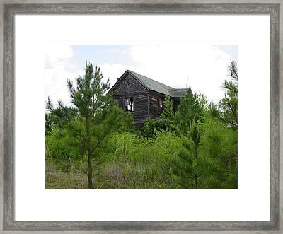 Haunted House Framed Print by Quwatha Valentine