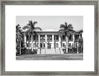 University Of Hawaii Hawaii Hall Framed Print by University Icons