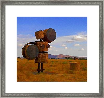 Hay Woman Framed Print by Nick Diemel