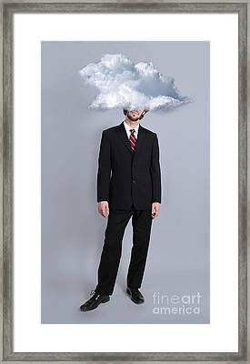 Head In The Clouds Framed Print by Robin Treadwell