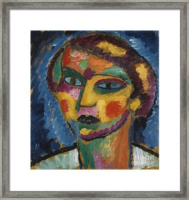 Head Of A Woman Framed Print by Celestial Images