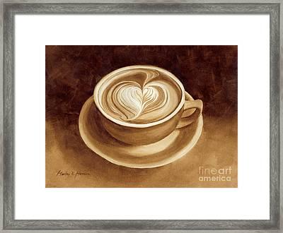 Heart Latte II Framed Print by Hailey E Herrera