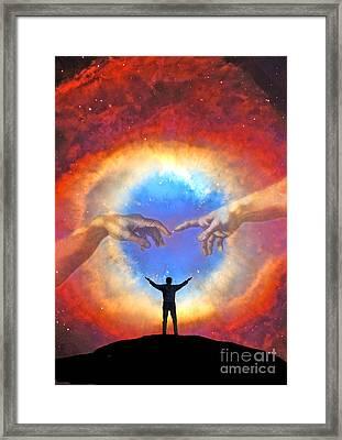 Helix Nebula Framed Print by Larry Landolfi