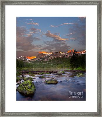 Hell Roaring Lake Framed Print by Keith Kapple