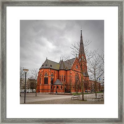 Helsingborg Gustav Adolf Church Framed Print by Antony McAulay