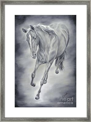 Here She Comes Framed Print by Cathy Cleveland