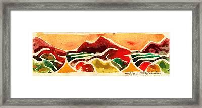 High Mountain Meadows Framed Print by Annie Alexander