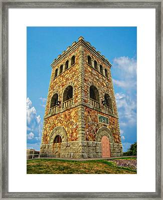 High Rock Tower Framed Print by Anthony Dezenzio