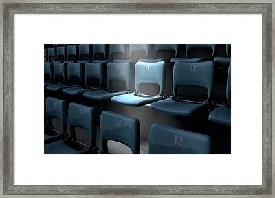 Highlighted Stadium Seat Framed Print by Allan Swart