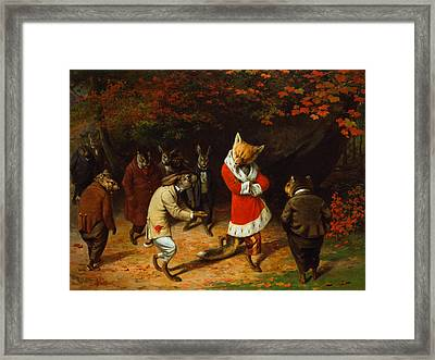 His Majesty Receives Framed Print by William Holbrook Beard