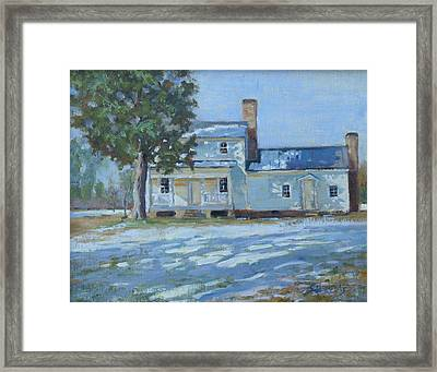 Hodge House C. 1811 Framed Print by Sandra Harris