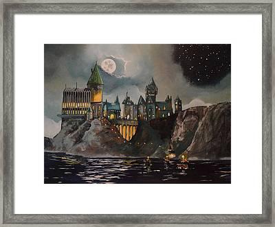 Hogwart's Castle Framed Print by Tim Loughner