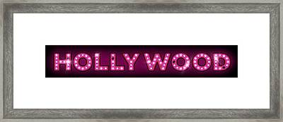Hollywood In Lights Framed Print by Michael Tompsett