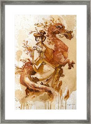 Honor And Grace Framed Print by Brian Kesinger