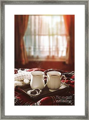 Hot Chocolate Drinks Framed Print by Amanda And Christopher Elwell