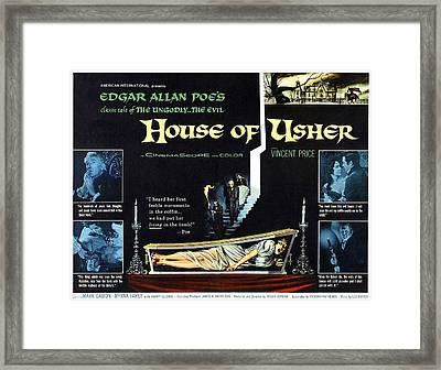 House Of Usher, Aka The Fall Of The Framed Print by Everett