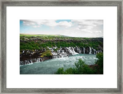 Hraunfossar Framed Print by Mirra Photography
