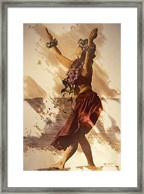 Hula On The Beach Framed Print by Himani - Printscapes