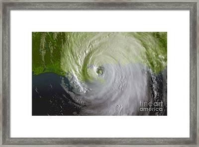 Hurricane Katrina Framed Print by Science Source
