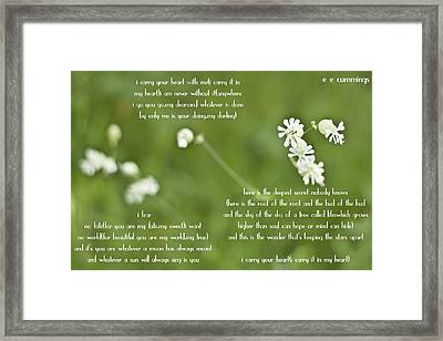 I Carry Your Heart Framed Print by Georgia Fowler
