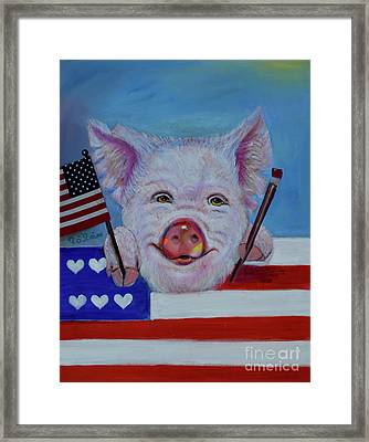 I Love The Usa Framed Print by To-Tam Gerwe