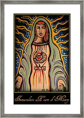 Immaculate Heart Of Mary Framed Print by Melissa Wyatt
