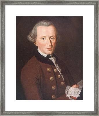 Immanuel Kant, German Philosopher Framed Print by Science Source