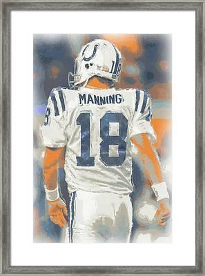 Indianapolis Colts Peyton Manning Framed Print by Joe Hamilton