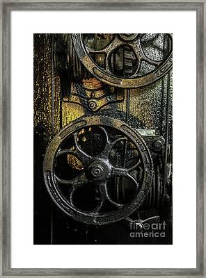 Industrial Wheels Framed Print by Carlos Caetano