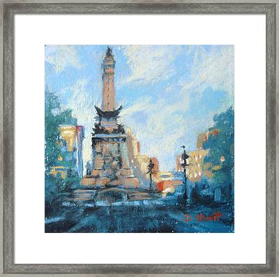 Indy Circle Day Framed Print by Donna Shortt