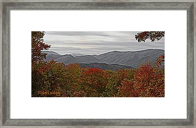 Infinite Smoky Mountains Framed Print by DigiArt Diaries by Vicky B Fuller
