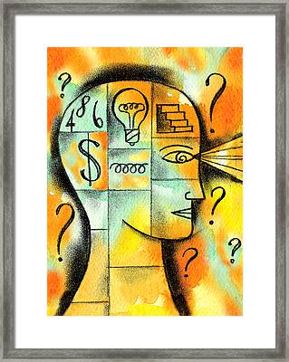 Knowledge And Idea Framed Print by Leon Zernitsky
