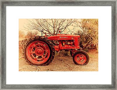 International Harvester Mccormick Farmall Farm Tractor . 7d10320 Framed Print by Wingsdomain Art and Photography