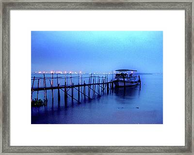 Into The Blue Framed Print by Farah Faizal