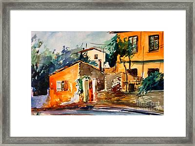 Ipiros Old Houses Framed Print by George Siaba