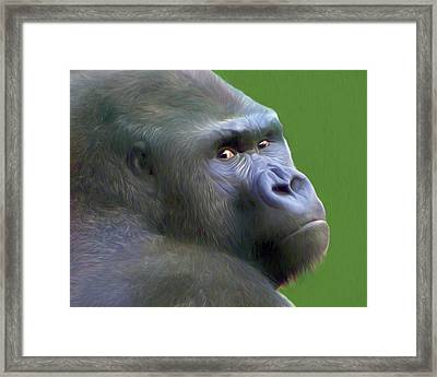Is That A Chip On My Shoulder Framed Print by Nikolyn McDonald